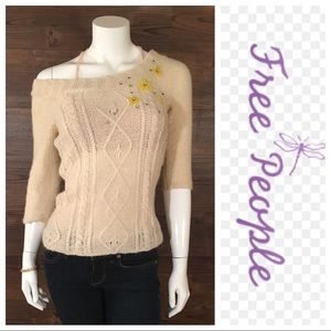 Free People Cable Knit Sweater